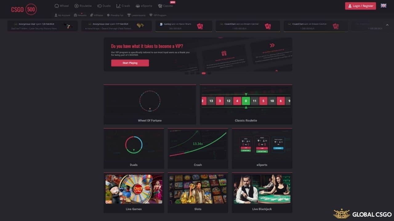 csgo500 gambling site