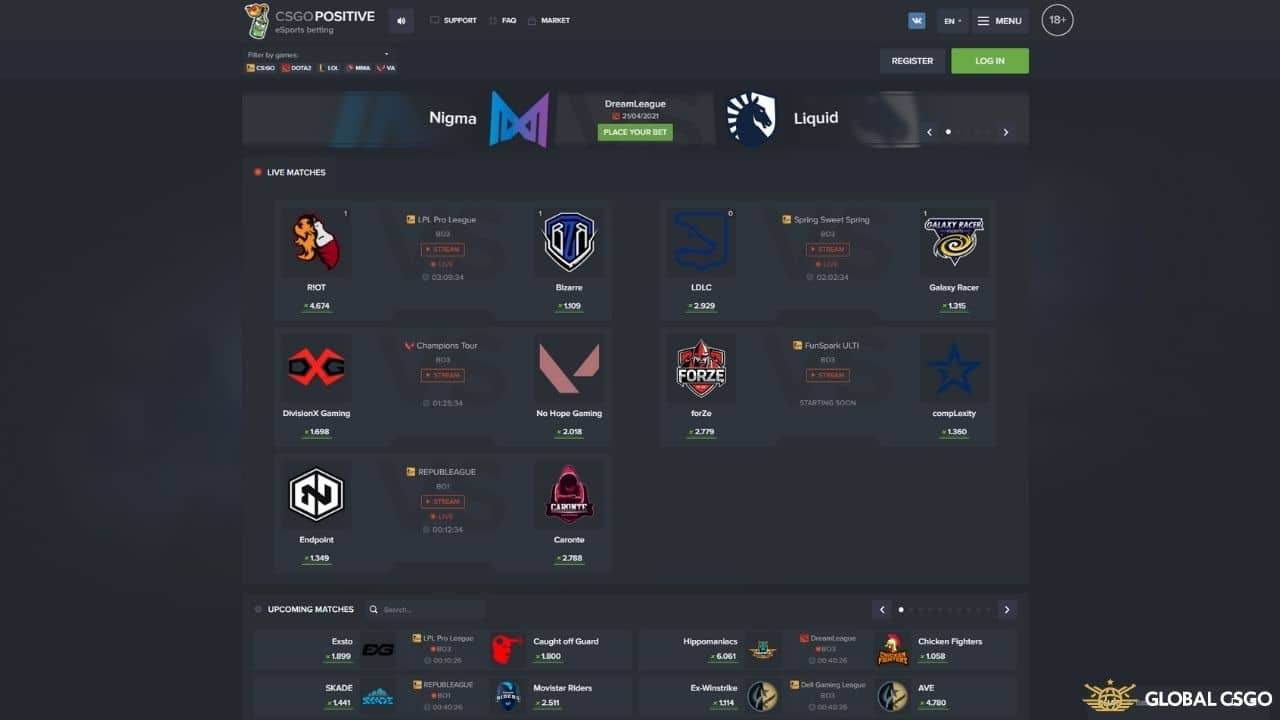 csgopositive games match betting