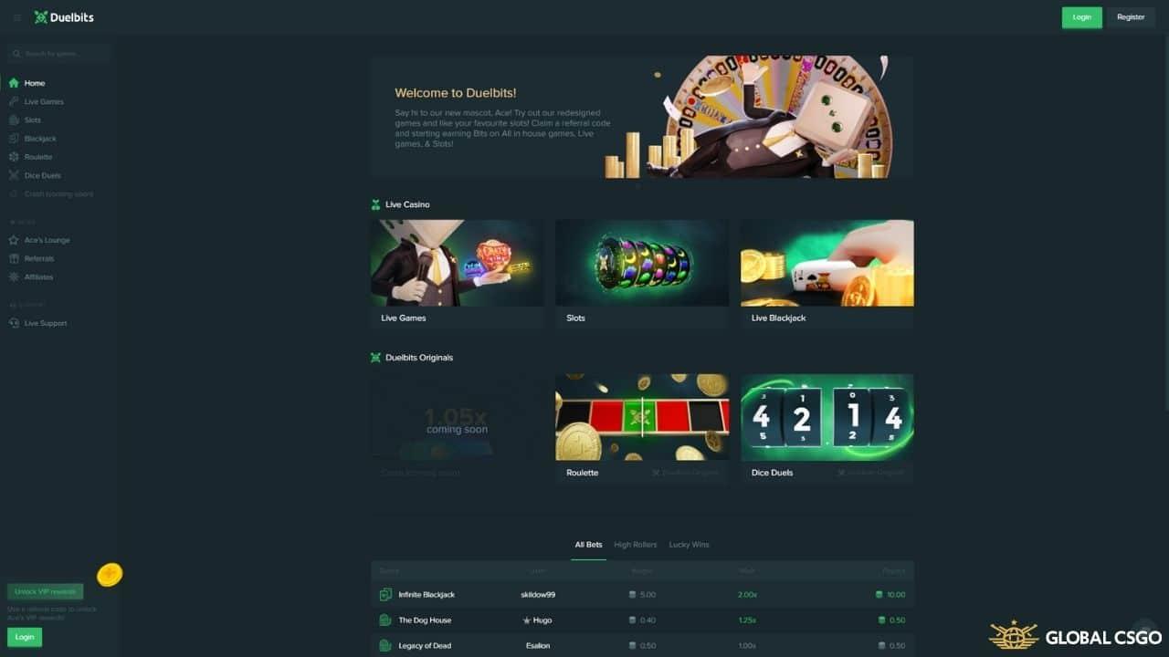 duelbits csgo website