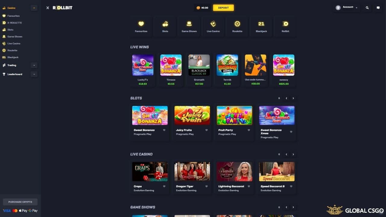 available games on rollbit