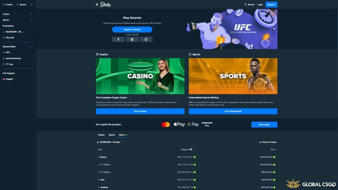 stake com website
