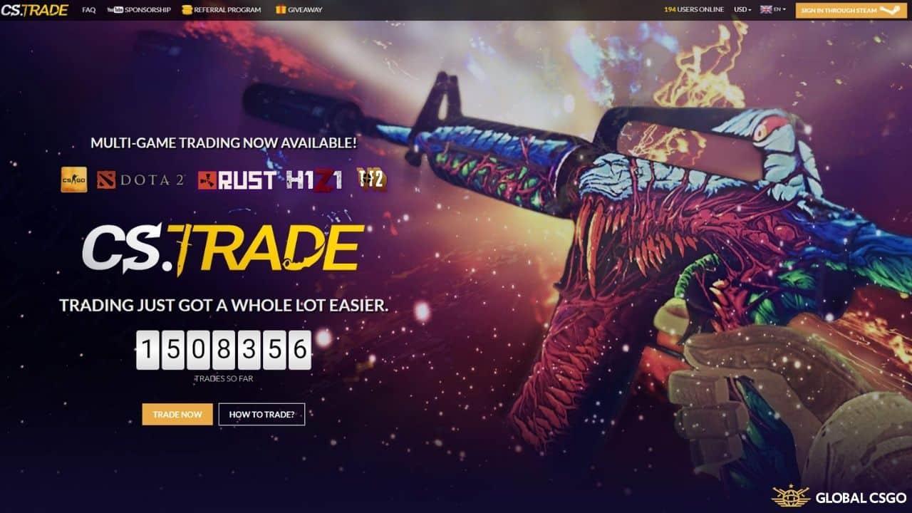 cstrade csgo skins trading website