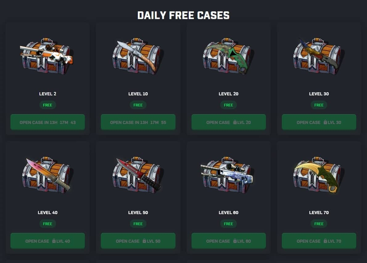 daily free cases csgoroll